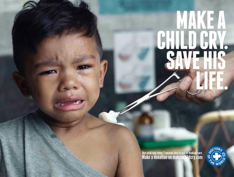haz llorar a un niño