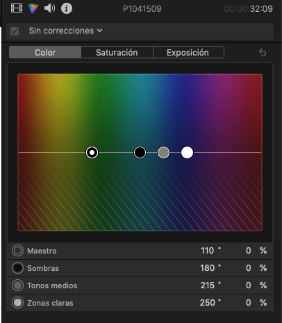 corrección de color en final cut